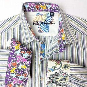 Robert Graham, stripped button up shirt, medium
